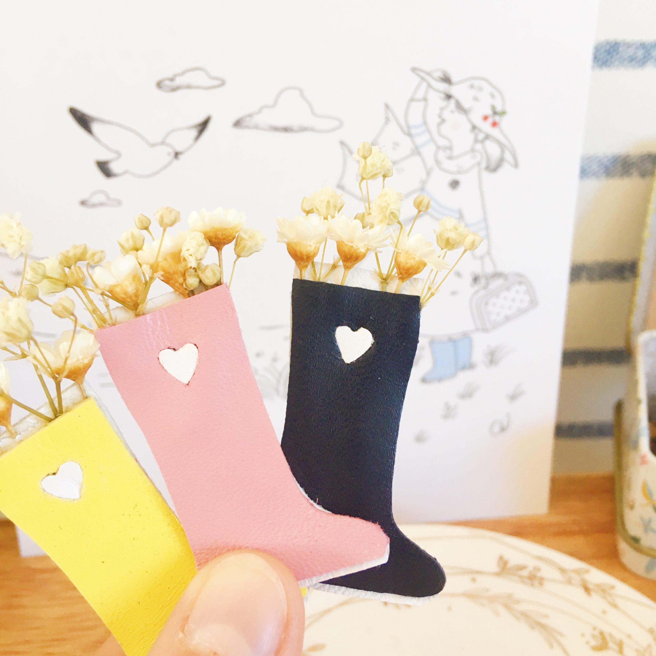 broches bottes de fleurs séchées - du vent dans mes valises