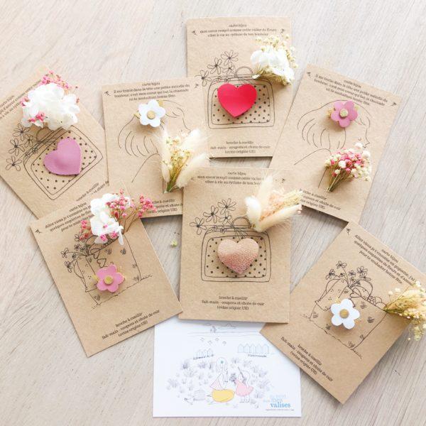 cartes bijoux florales pour la fête des mères, papeterie poétique et fleurs séchées, made in france - du vent dans mes valises