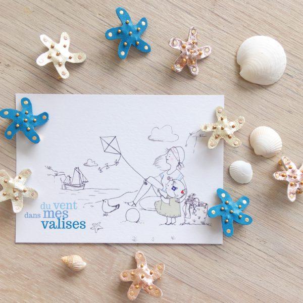 broches bijoux maris stella étoiles de mer fabrication artisanale française - du vent dans mes valises