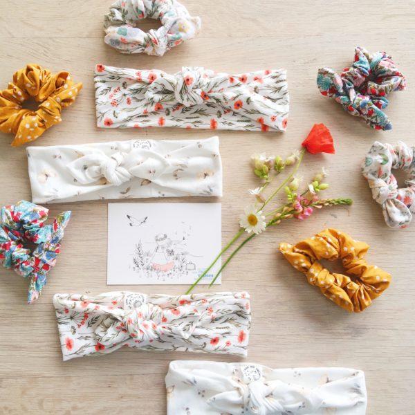 accessoires coiffure mariage champêtre fabrication artisanale française - du vent dans mes valises