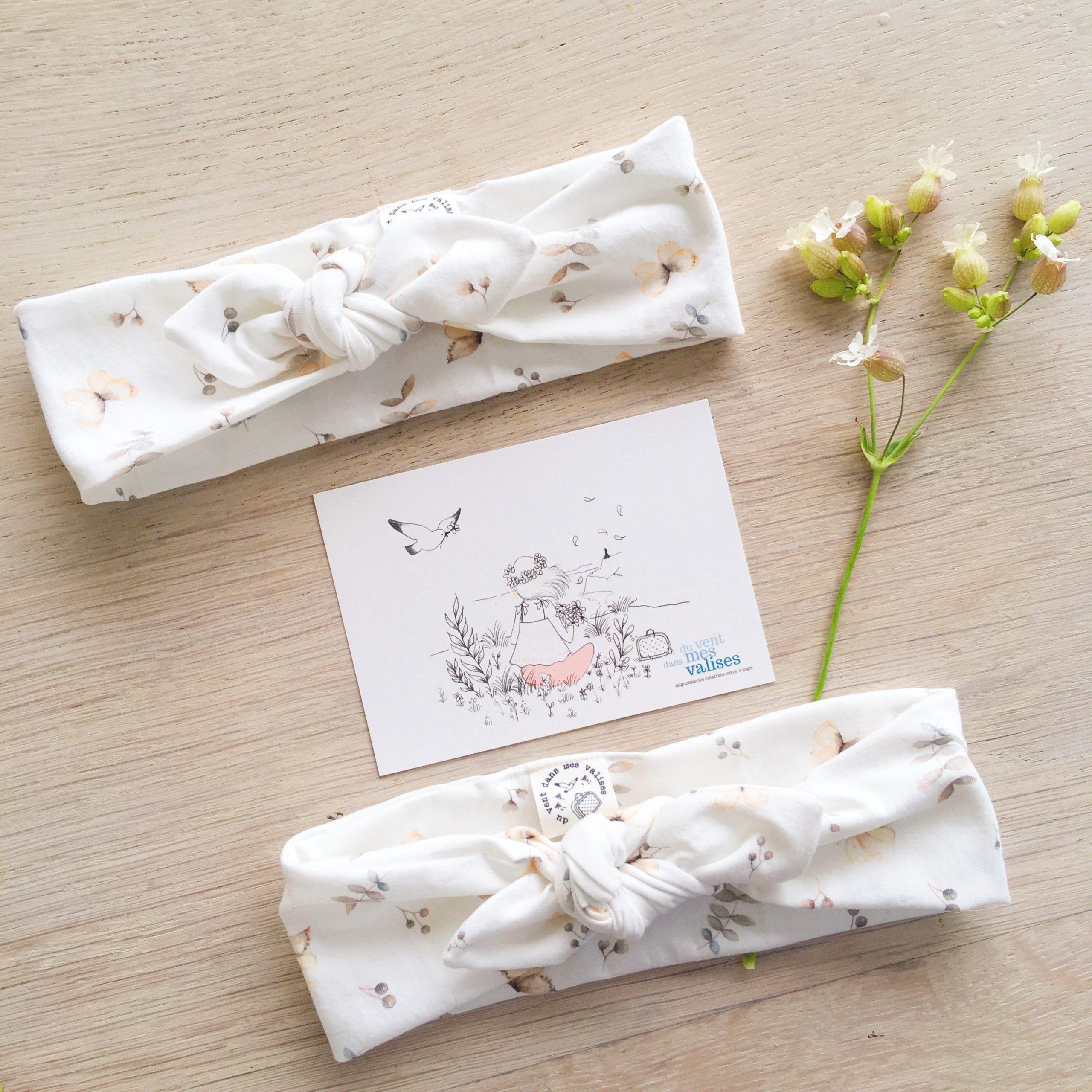 bandeaux adaptables les papillons fabrication artisanale française -n du vent dans mes valises