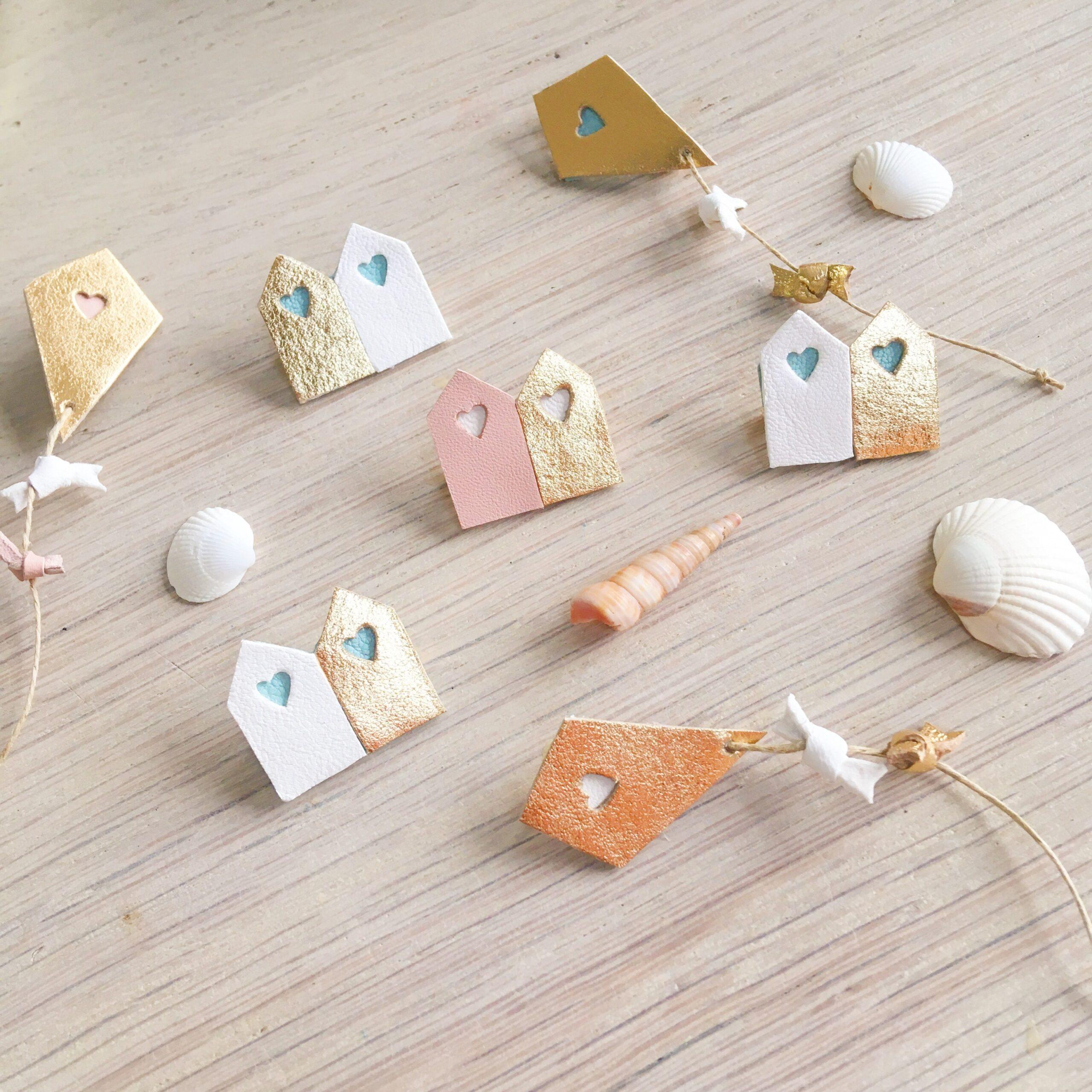 broches bijoux été cerf-volants et cabines de plage, maisons de vacances made in France - du vent dans mes valises