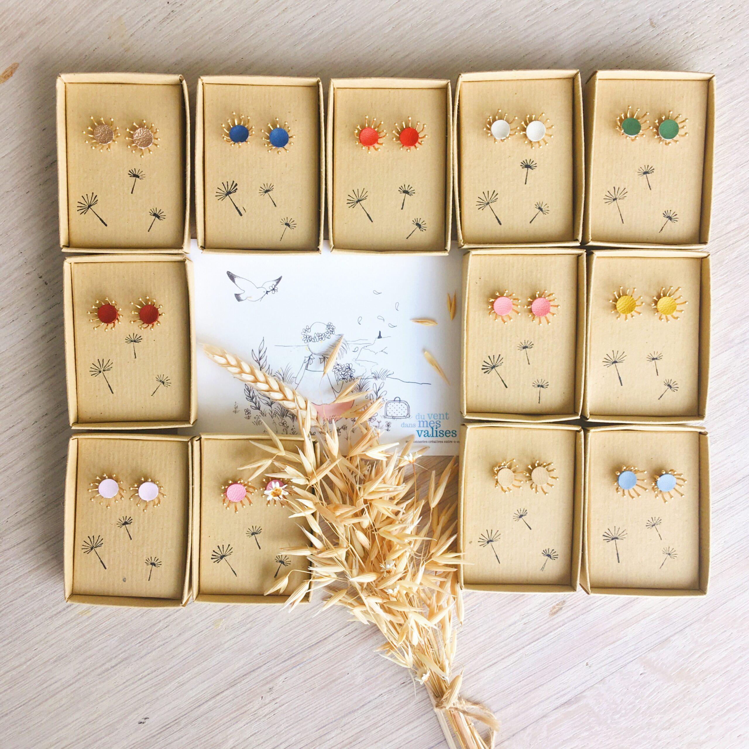 bijoux d'oreilles les fleurs du vent made in France - du vent dans mes valises