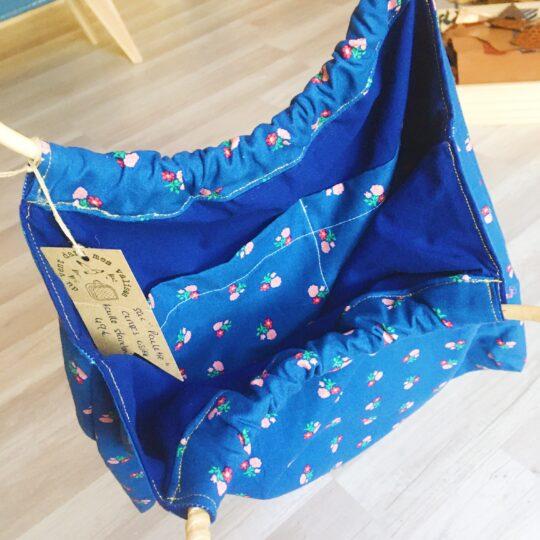 sac paulette avec anses rondes cercles d'osier, fabrication artisanale française sur commande - du vent dans mes valises