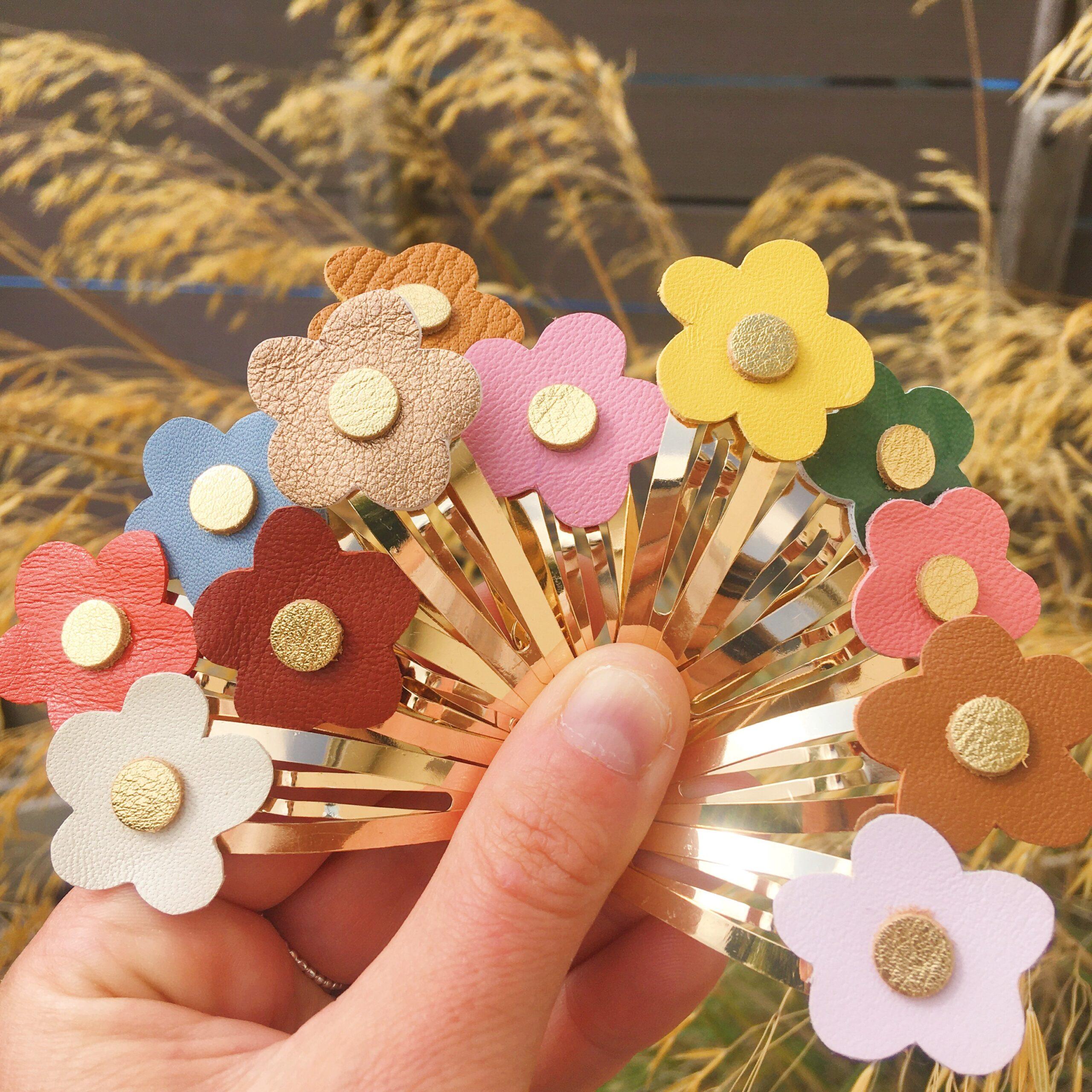 barrettes fleurettes fabrication artisanale française - du vent dans mes valises