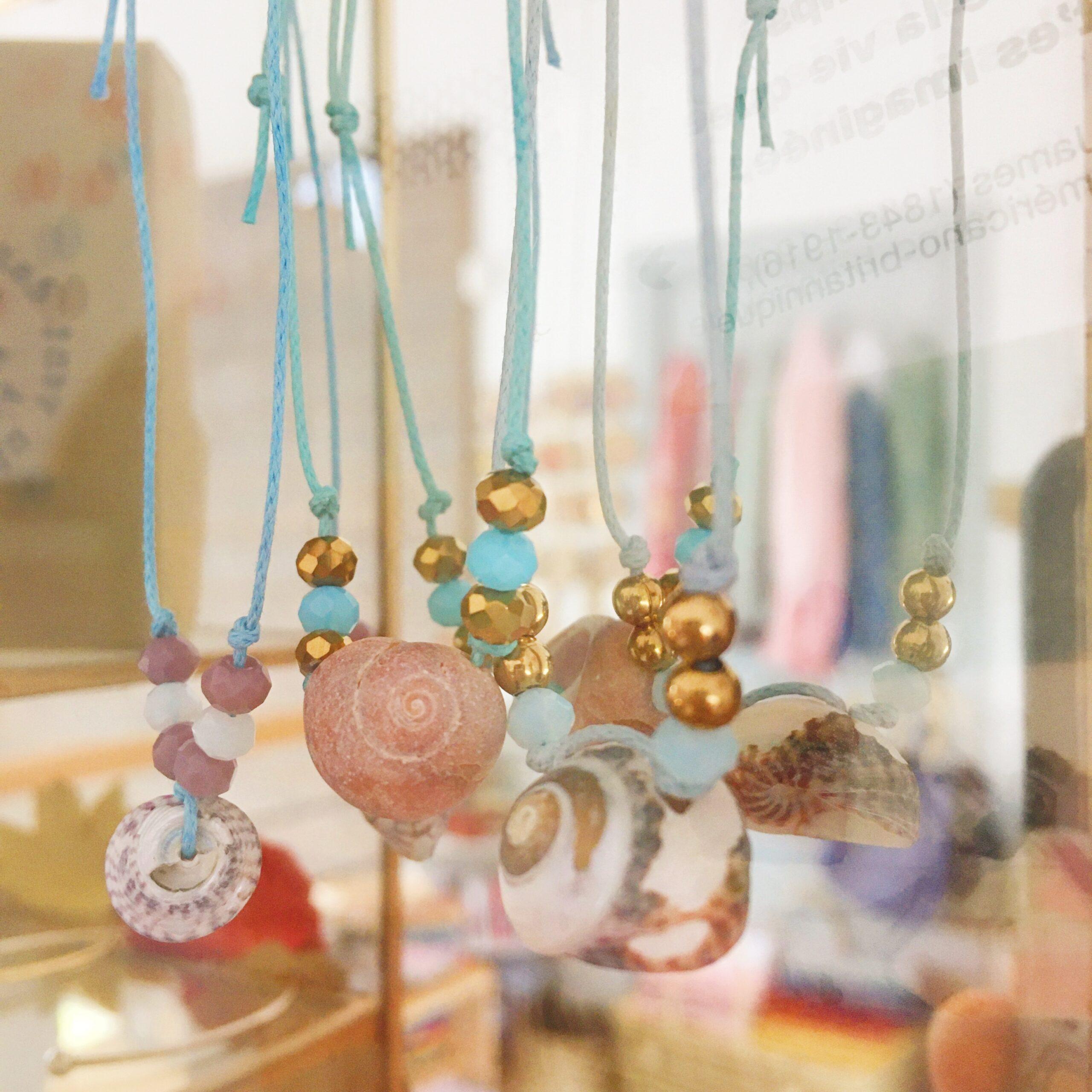 bracelets fabrication artisanale française avec véritable coquillage - du vent dans mes valises