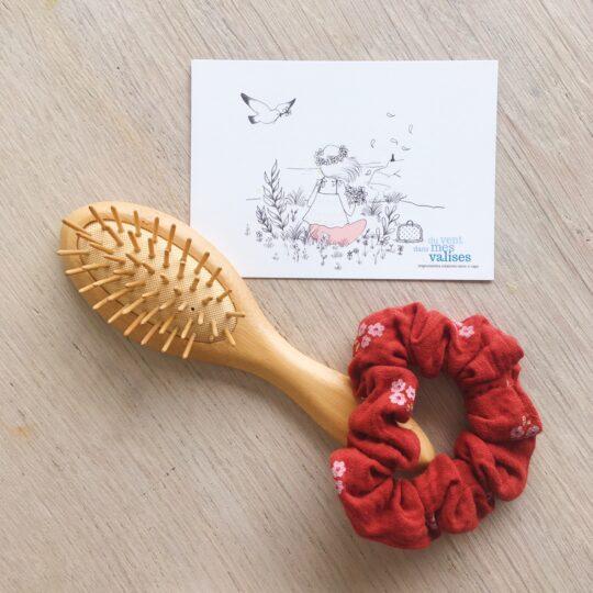 chouchou chic terracotta bouquet de fleurs cuivrées fabrication artisanale française en double gaze de coton - du vent dans mes valises