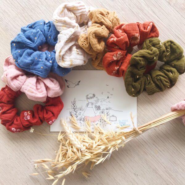 chouchous chics fabrication artisanale française en double gaze de coton - du vent dans mes valises