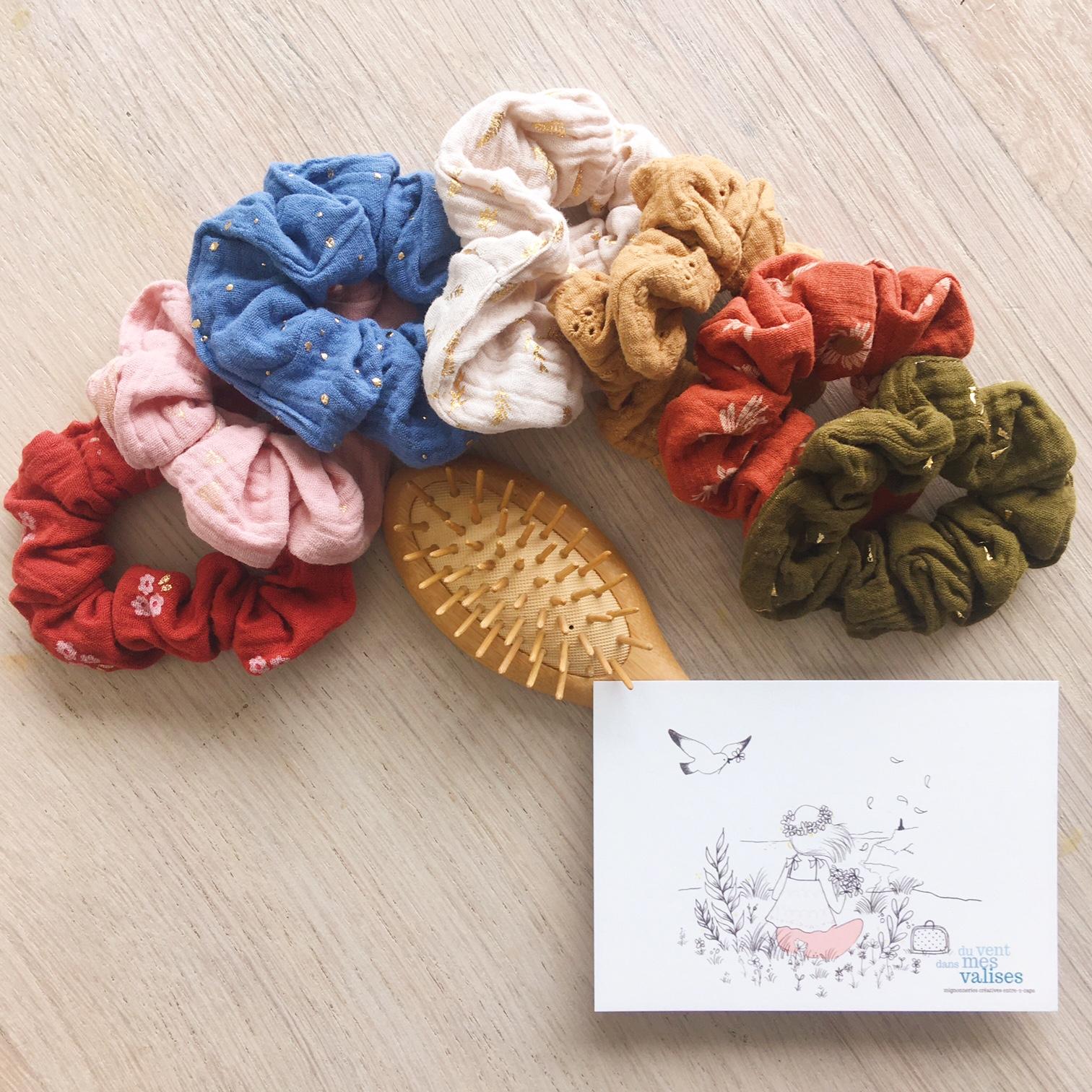 chouchous chics femmes fabrication artisanale française en double gaze de coton - du vent dans mes valises