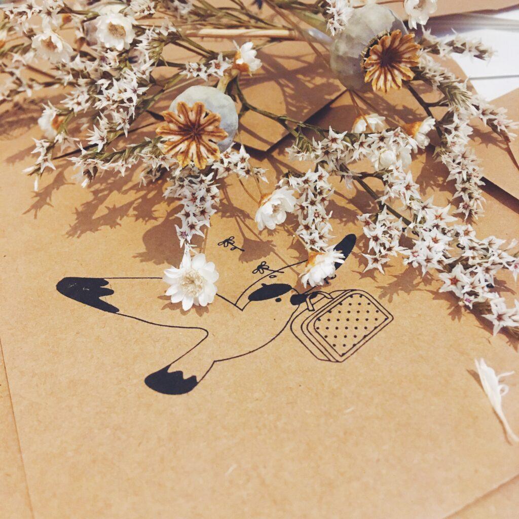 emballages naturels et fleurs séchées - du vent dans mes valises