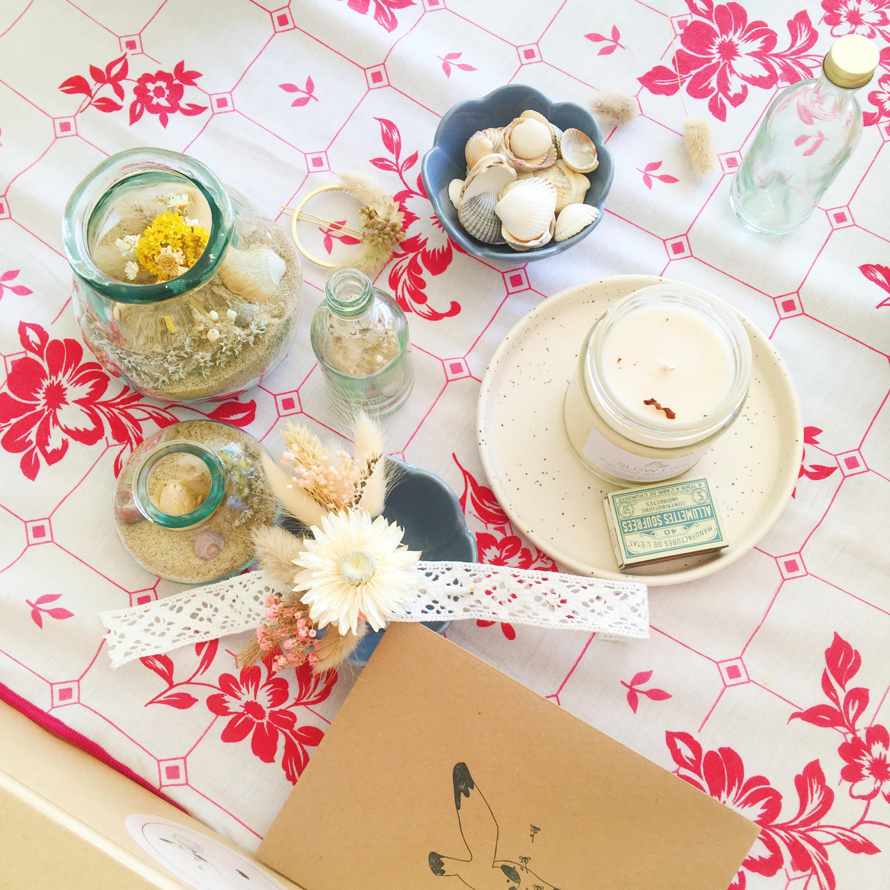 atelier créatif confiture de souvenirs et trio d'accessoires fleuris - du vent dans mes valises