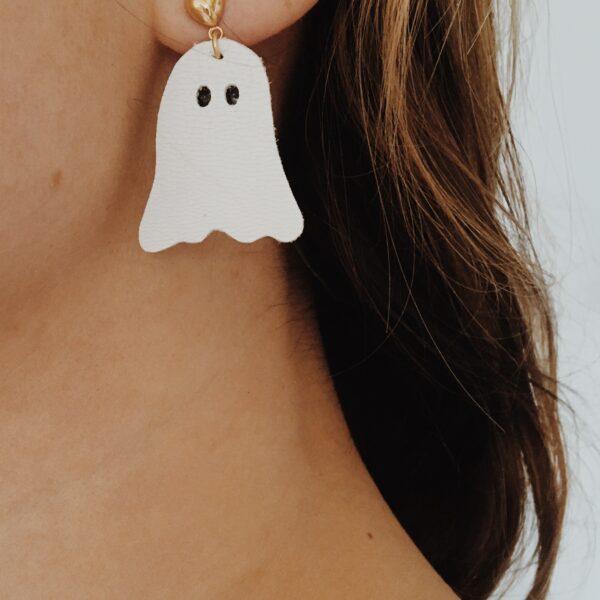 Accessoire-femme-fille-pour-Halloween-boucles-doreilles-fantomes-en-cuir-du-vent-dans-mes-valises