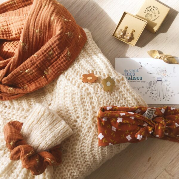 harmonie d'automne accessoires femme made in France confection artisanale cadeaux bijoux cuir - du vent dans mes valises