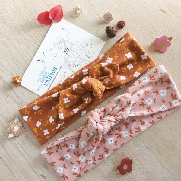 bandeau femme fille réglable et extensible fabriqué en France de façon artisanale en coton doux et extensible - du vent dans mes valises